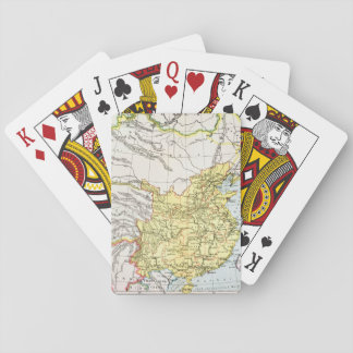 MAP: CHINA, 1910 PLAYING CARDS