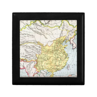MAP: CHINA, 1910 SMALL SQUARE GIFT BOX