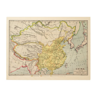MAP: CHINA, 1910 WOOD WALL ART