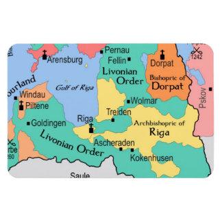 Map circa 1260 magnet