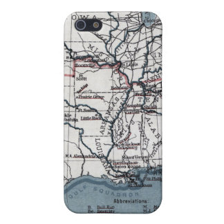 MAP: CIVIL WAR, 1861 iPhone 5/5S COVERS