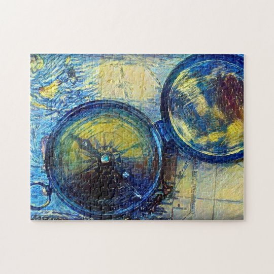 Map & Compass Jigsaw Puzzle