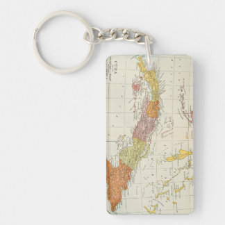 MAP: CUBA, 1900 Double-Sided RECTANGULAR ACRYLIC KEY RING