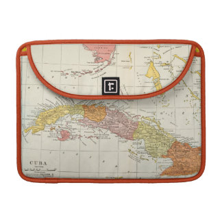 MAP: CUBA, 1900 MacBook PRO SLEEVES