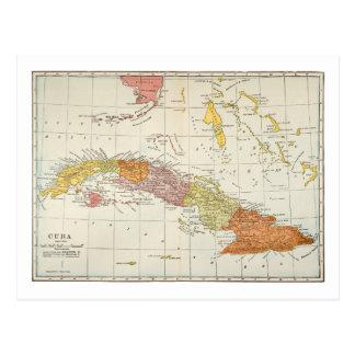 MAP: CUBA, 1900 POSTCARD