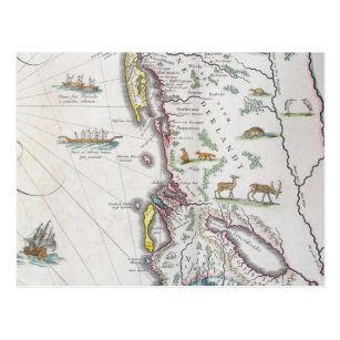 Map Depicting the East Coast Postcard