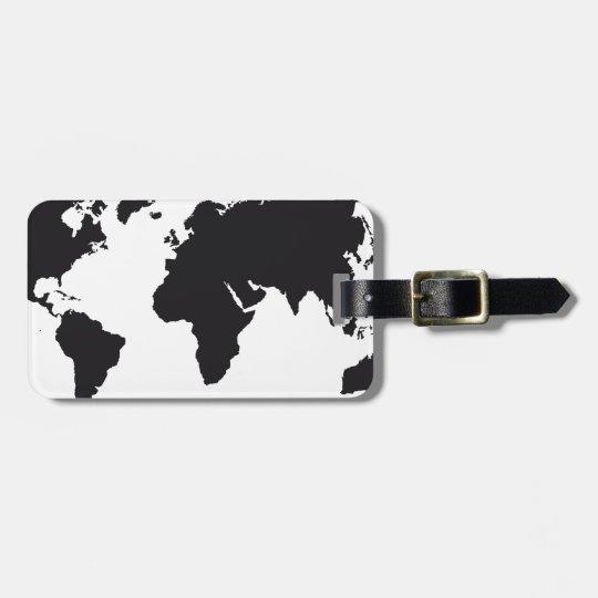 map design luggage tag