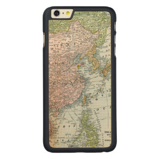 MAP: EAST ASIA, 1907 CARVED MAPLE iPhone 6 PLUS CASE