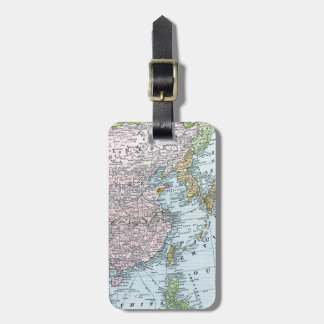 MAP: EAST ASIA, 1907 LUGGAGE TAGS