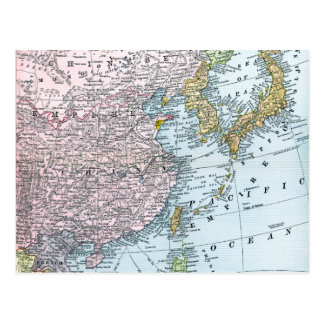 MAP: EAST ASIA, 1907 POSTCARD