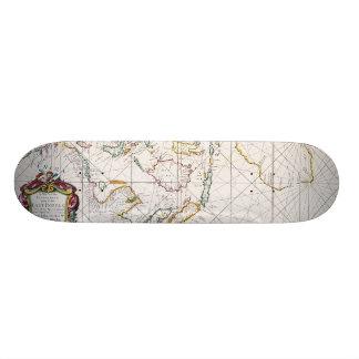 MAP: EAST INDIES, 1670 21.6 CM SKATEBOARD DECK