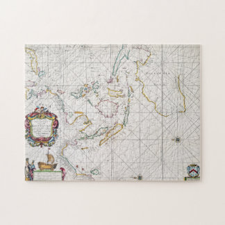 MAP: EAST INDIES, 1670 JIGSAW PUZZLE
