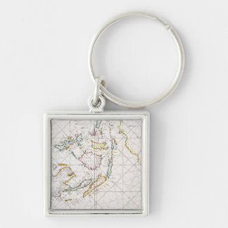 MAP: EAST INDIES, 1670 KEY RING