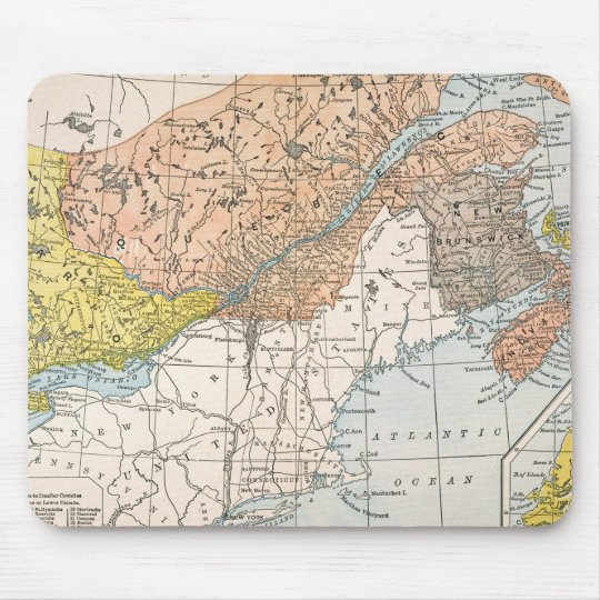 MAP: EASTERN CANADA MOUSE MAT