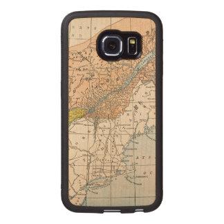 MAP: EASTERN CANADA WOOD PHONE CASE