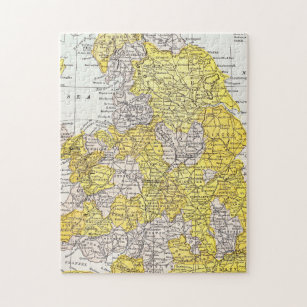 MAP: ENGLAND & WALES JIGSAW PUZZLE