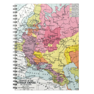 MAP: EXPANSION OF RUSSIA NOTEBOOK