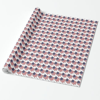 Map Flag USA Wrapping Paper