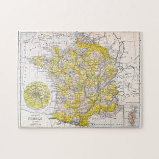 MAP: FRANCE JIGSAW PUZZLE