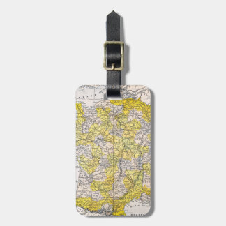 MAP: FRANCE LUGGAGE TAG