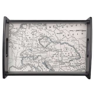 MAP: GERMANY AND AUSTRIA SERVING TRAY