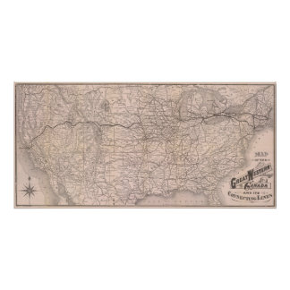 Map Great Western Railway of Canada Print