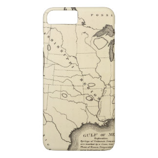 Map, hot springs, United States iPhone 8 Plus/7 Plus Case