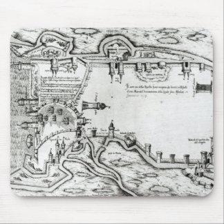 Map illustrating La Rochelle occupied Mouse Mat