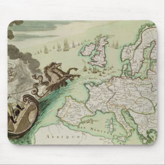 Map illustrating the Naval Attack on England Mouse Mat