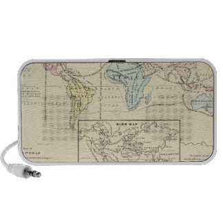 Map in color of The World Laptop Speaker