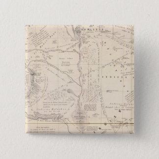 Map, Indian Territory South of the Pampas Region 15 Cm Square Badge