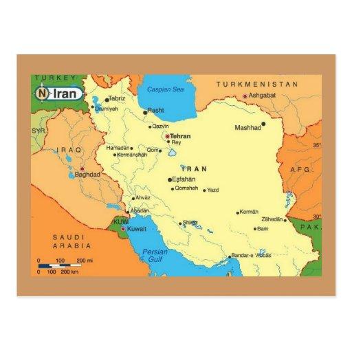 Map-Iran-1990s Post Card