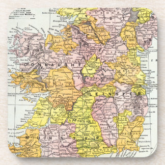 MAP: IRELAND, c1890 Beverage Coasters