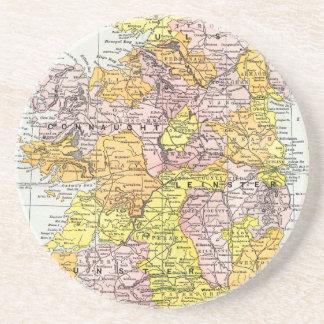 MAP: IRELAND, c1890 Coaster