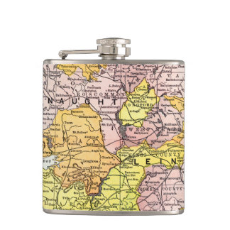 MAP: IRELAND, c1890 Flask
