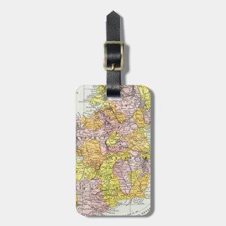 MAP: IRELAND, c1890 Luggage Tag
