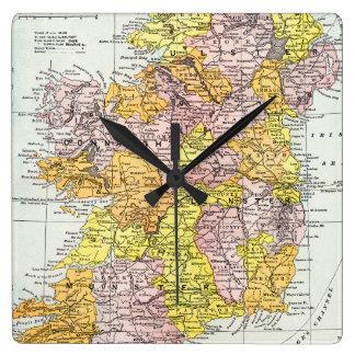 MAP: IRELAND, c1890 Wall Clock