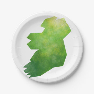 Map Ireland Paper Plate