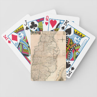 MAP: JAMAICA, 1755 2 BICYCLE PLAYING CARDS