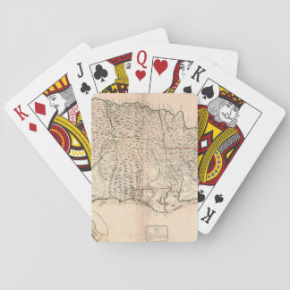 MAP: JAMAICA, 1755 2 PLAYING CARDS