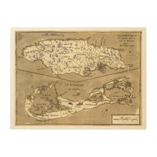 MAP: JAMAICA, 1767 WOOD PRINT