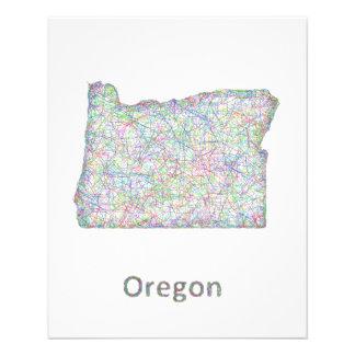 map_line_US_01_Oregon.ai 11.5 Cm X 14 Cm Flyer