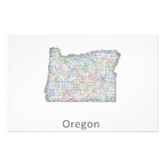 map_line_US_01_Oregon.ai 14 Cm X 21.5 Cm Flyer