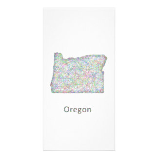 map_line_US_01_Oregon.ai Photo Card