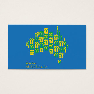 Map made of Aussie thongs Business Card
