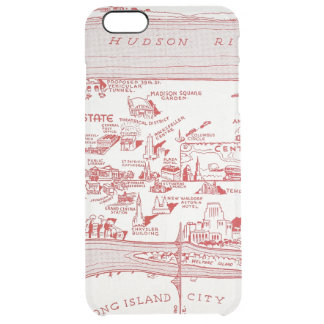 MAP: MANHATTAN, c1935 Clear iPhone 6 Plus Case