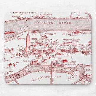 MAP: MANHATTAN, c1935 Mouse Mat