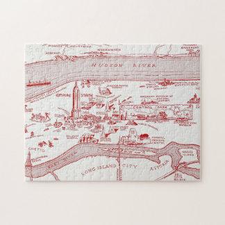 MAP: MANHATTAN, c1935 Puzzles