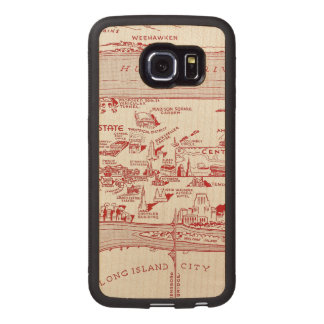 MAP: MANHATTAN, c1935 Wood Phone Case