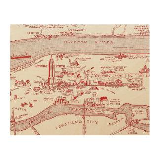 MAP: MANHATTAN, c1935 Wood Wall Art
